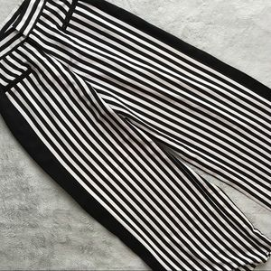 Urban Outfitters Black White Stripe Tuxedo Pants